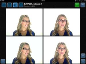 digital fitting system frame selection